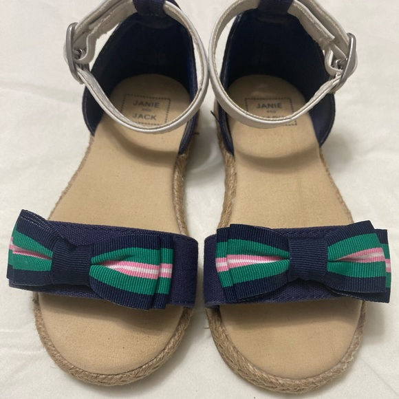 Janie and Jack Bow Espadrille Sandals ❤️ size 7